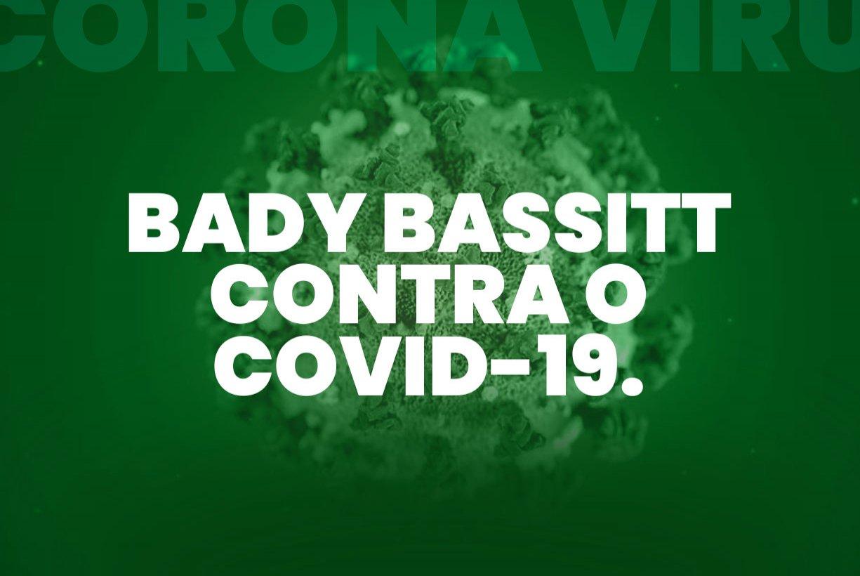 PREFEITURA DE BADY BASSITT TOMA MEDIDAS CONTRA O COVID-19