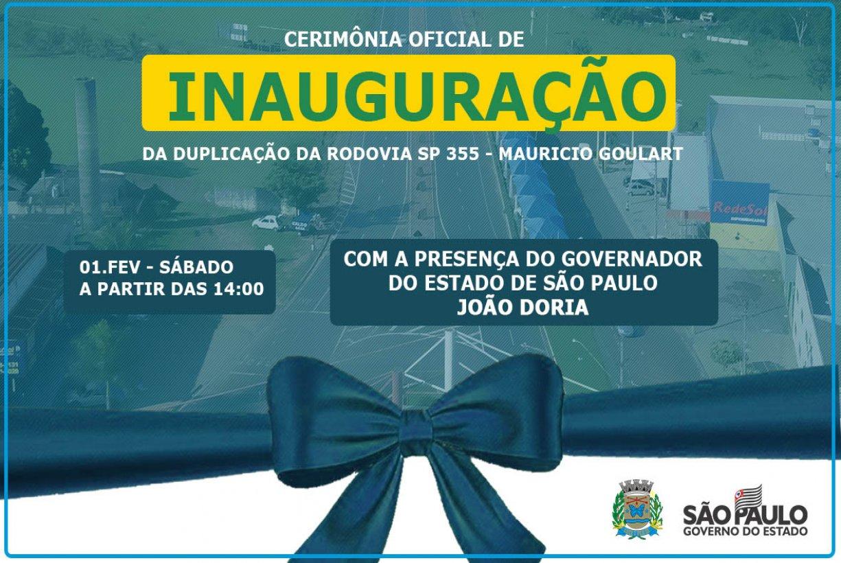 Governador João Doria vem a Bady Bassitt para inaugurar obra de duplicação da SP-355