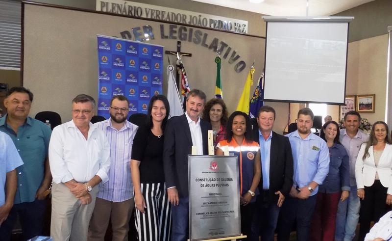Prefeitura e Defesa Civil de SP inauguram obra de galeria pluvial