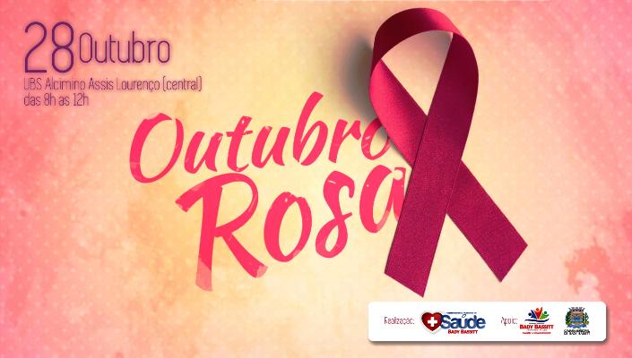 Prefeitura realiza campanha 'Outubro Rosa' no dia 28 de outubro
