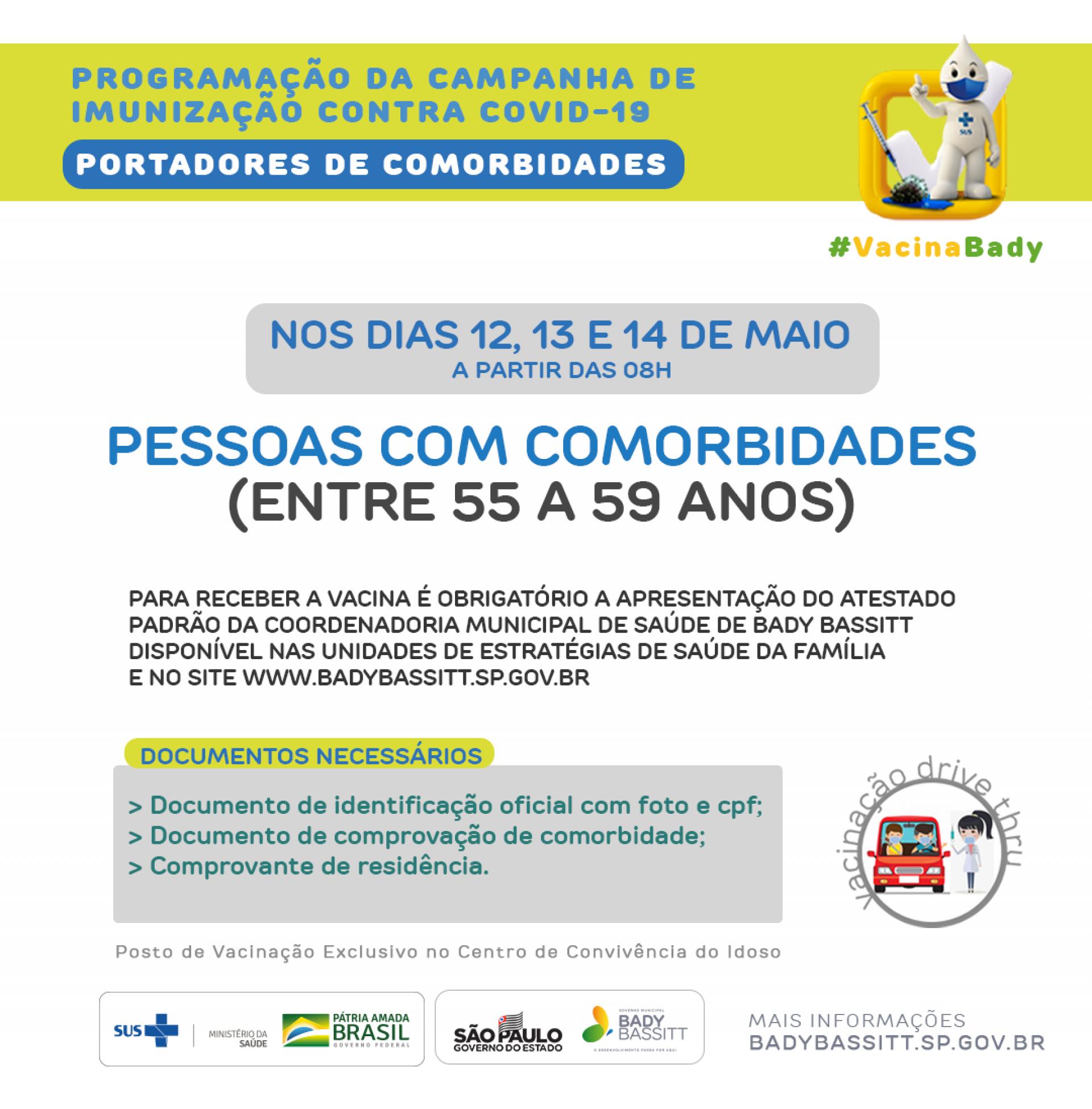 VACINAÇÃO CONTRA COVID-19 PARA PORTADORES DE COMORBIDADES