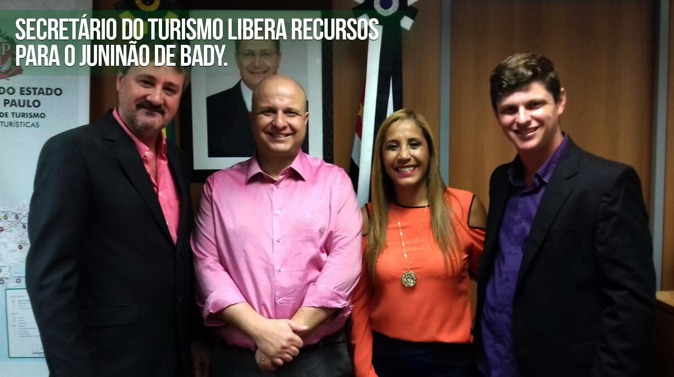 Secretário de Turismo libera recursos para o Juninão de Bady