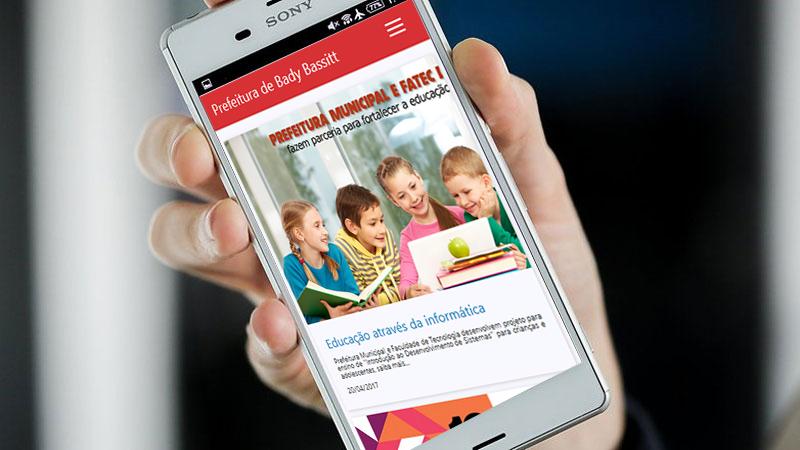 Já se encontra disponível o APP Android para o site Oficial da Prefeitura de Bady Bassitt.