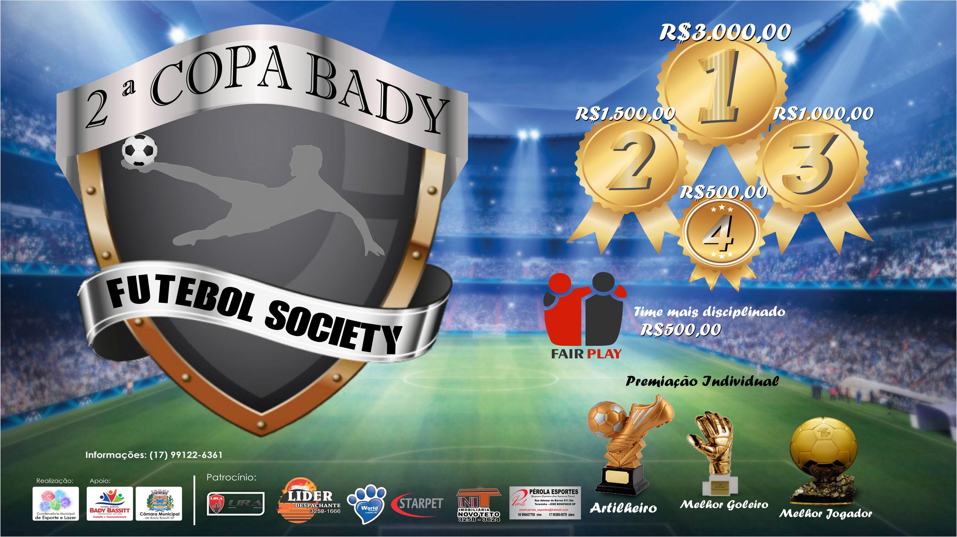 Copa Bady de Futebol Society 2017