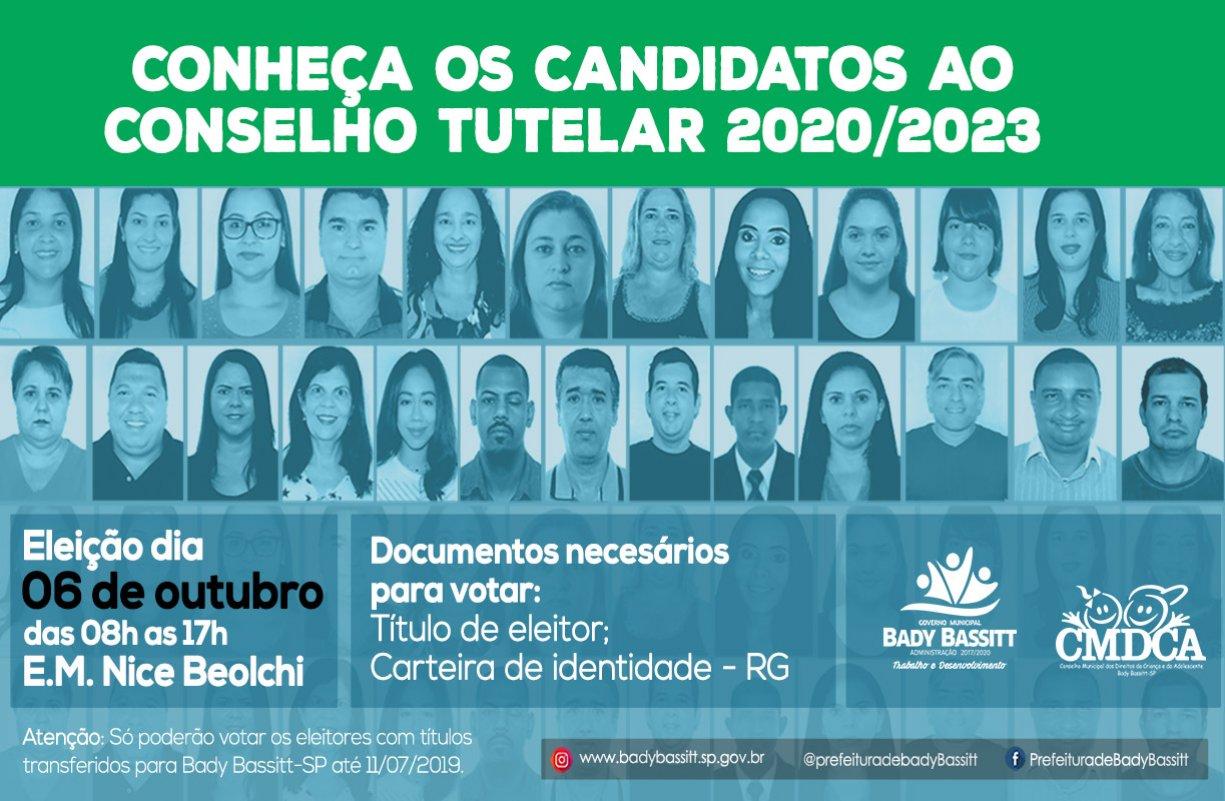 Conheça os candidatos ao Conselho Tutelar em Bady Bassitt - 2020/2023