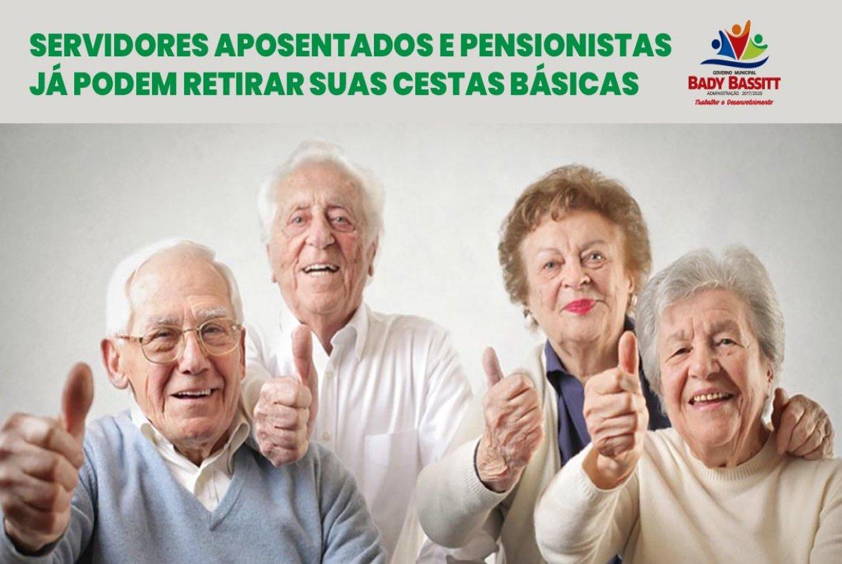 Servidores Municipais aposentados e pensionistas receberão cestas básicas a partir deste mês