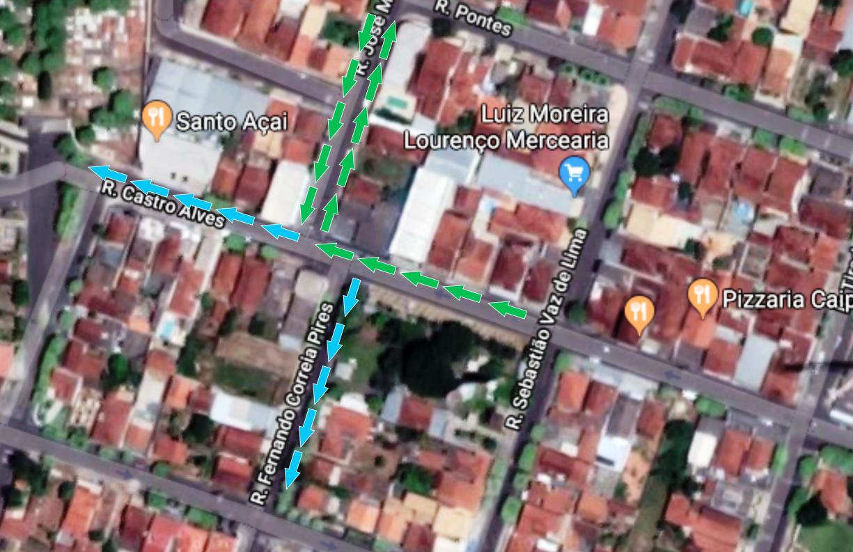 Ruas no Centro têm sentido de direção alterado visando segurança