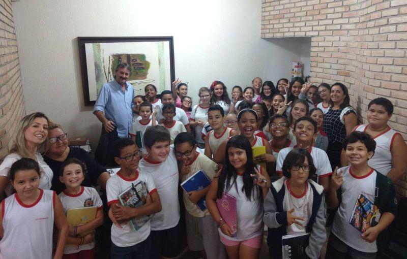 Alunos da escola João Ramos visitam Prefeitura de Bady Bassitt