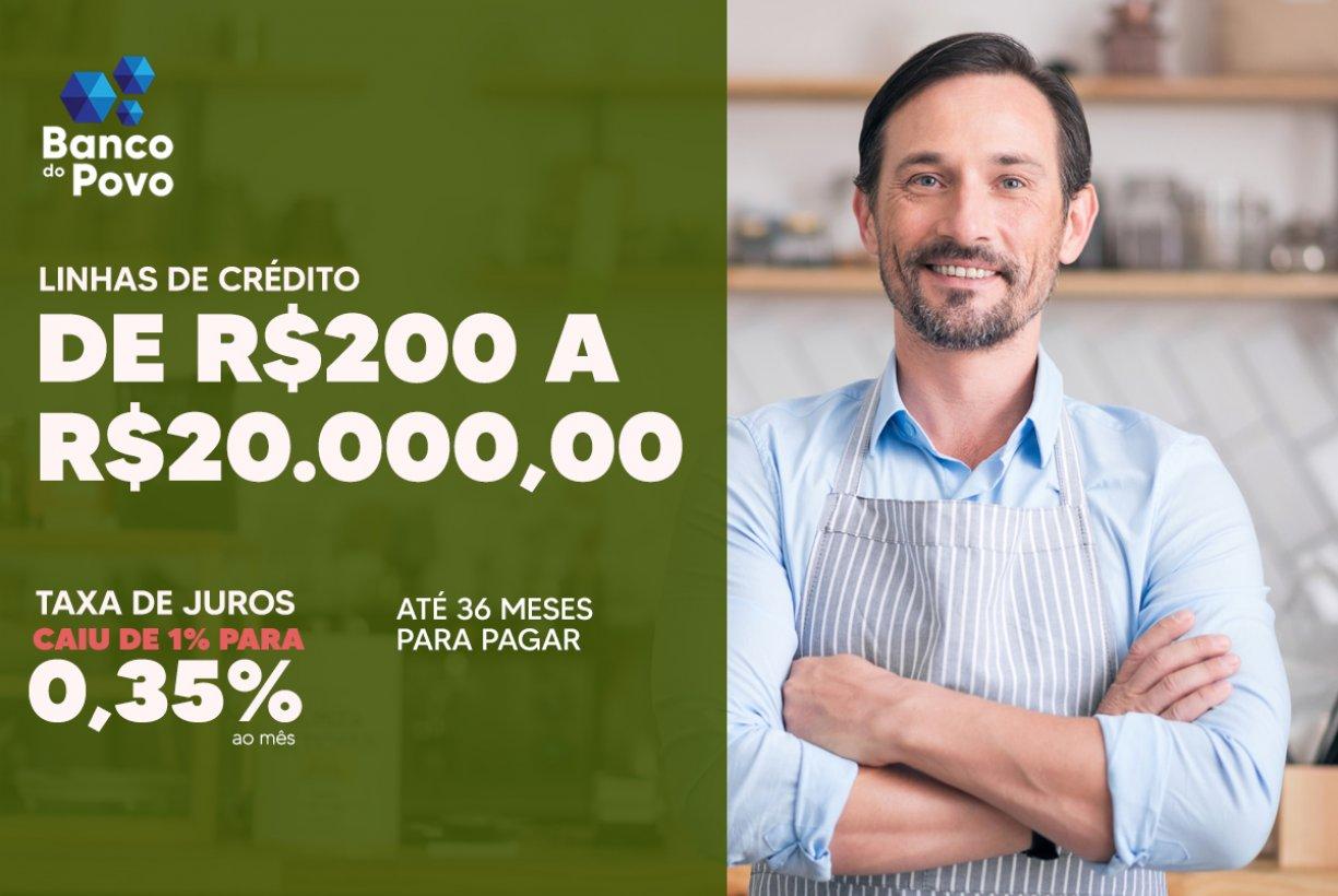 Banco do Povo disponibiliza linha de crédito emergencial para empreendedores em Bady Bassitt