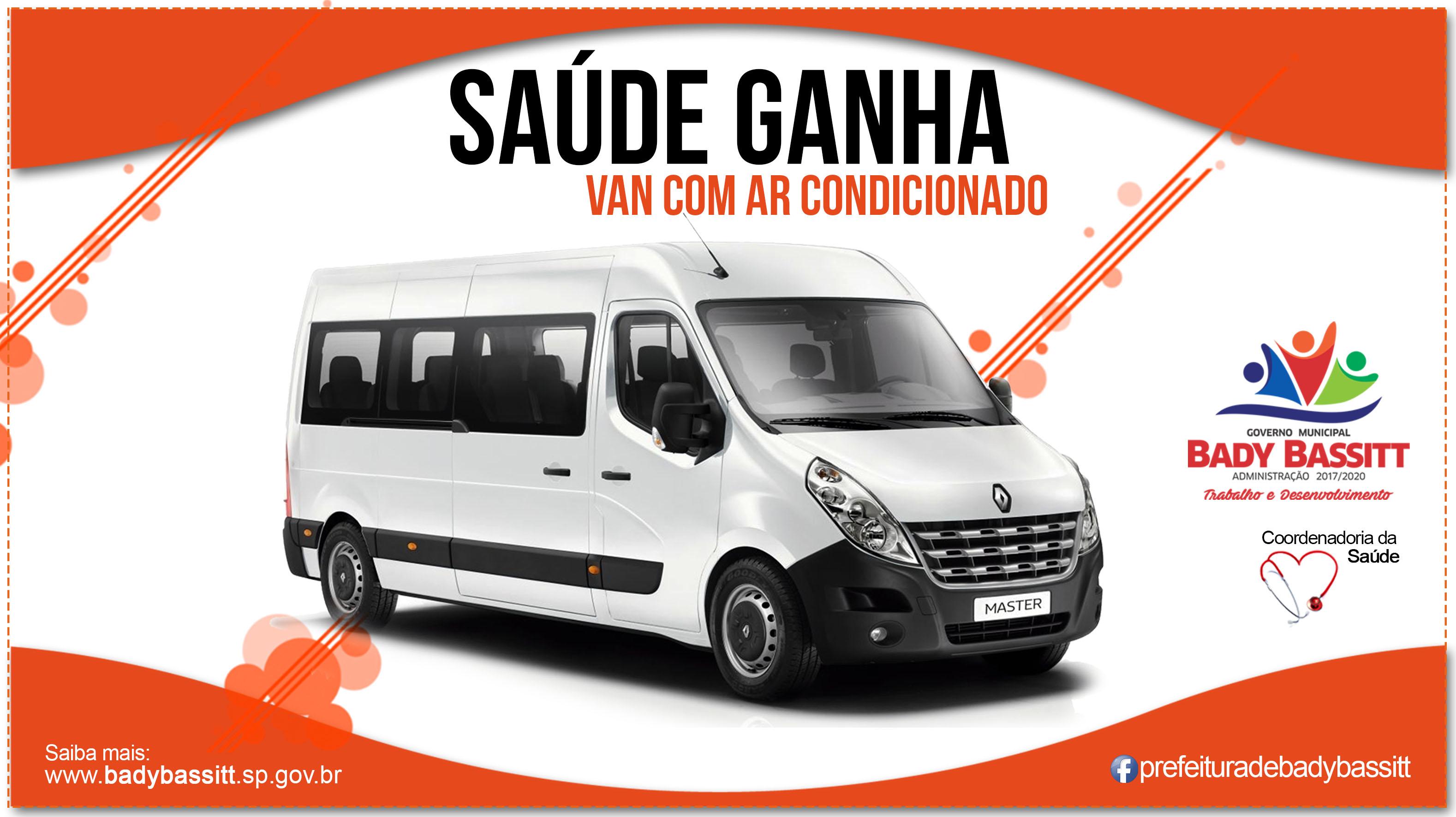 Saúde de Bady Bassitt ganha Van para transporte de pacientes