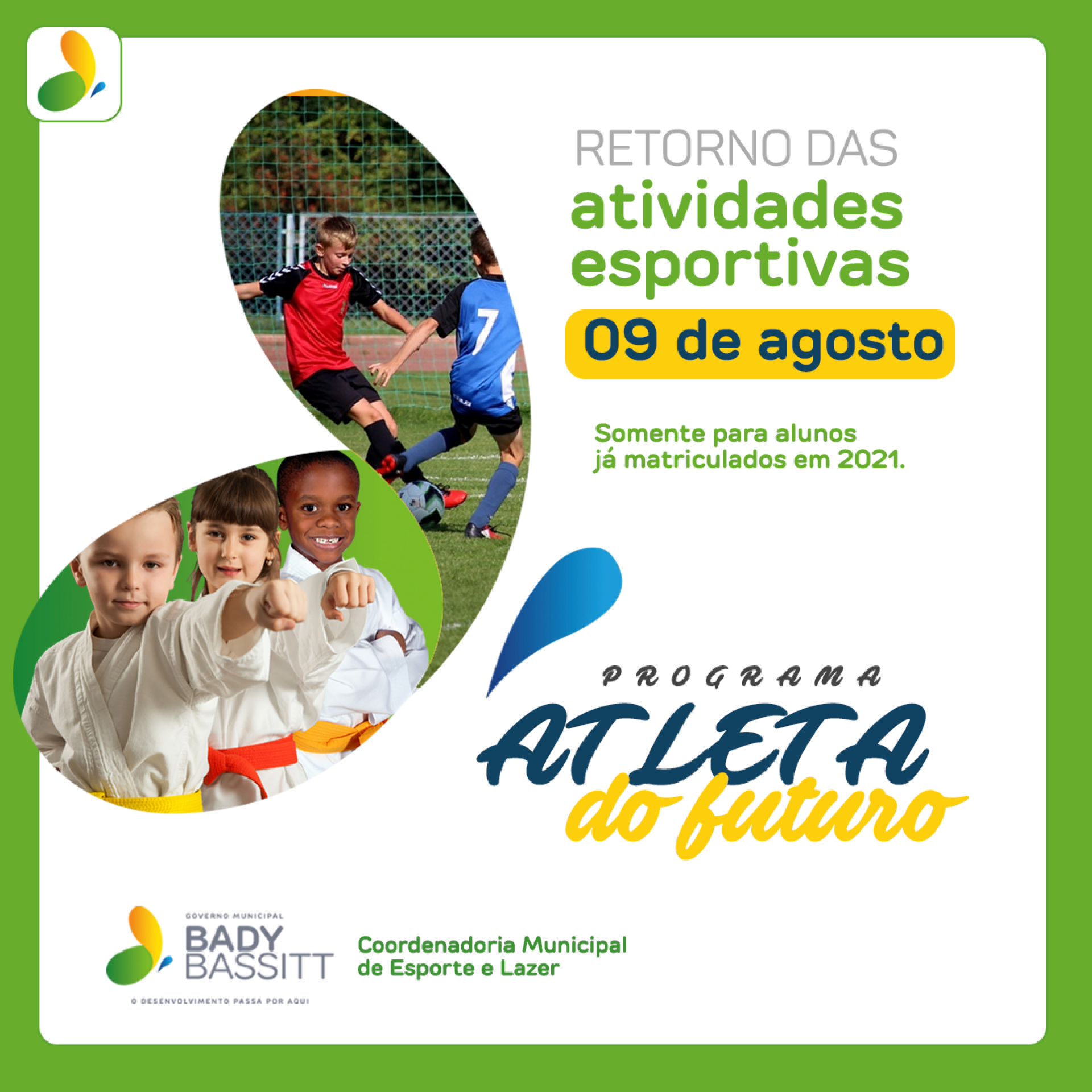 Esporte retomará atividades no municipio