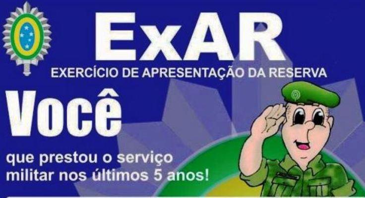 Importante: reservistas devem se apresentar para Exar