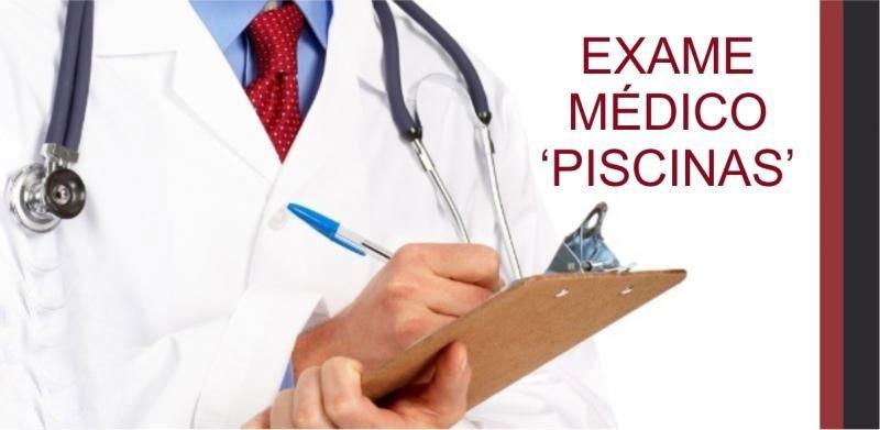 Exame médico da Piscina do Ginásio de Esportes