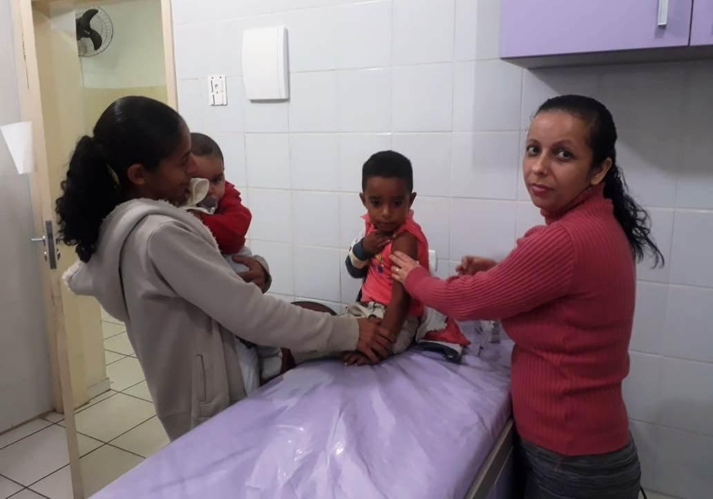Em Bady, mais de 500 crianças se vacinaram contra a pólio e o sarampo